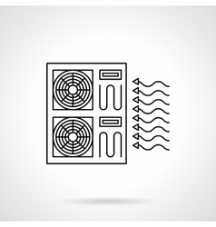Industrial air conditioning flat line icon vector