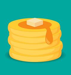 Isometric icon of pancakes vector