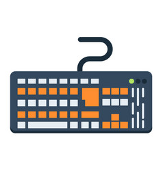 keyboard flat icon button and device vector image
