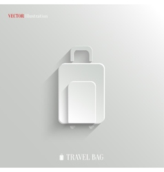 Luggage icon - white app button vector image vector image
