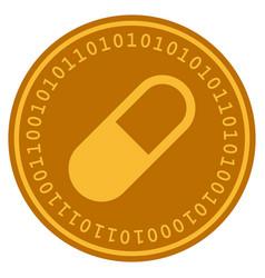 Medication granule digital coin vector