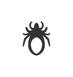 Mite Icon logo on white background vector image