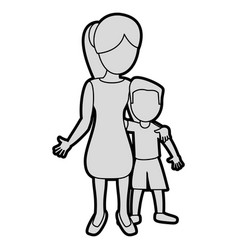 mother hugging son lovely image vector image
