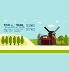 Natural farming banner vector