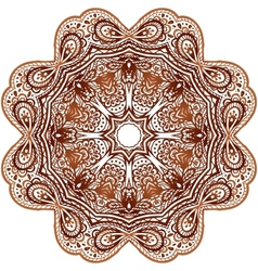 Ornate ethnic henna colors mandala vector image