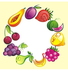 Ripe fresh fruit vector image