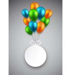 Round paper label on balloons vector