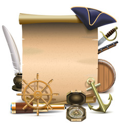 Seafaring Frame vector image vector image