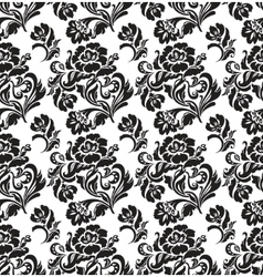 seamless pattern ornament floral background vector image vector image