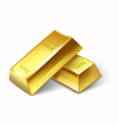 set of gold bars vector image