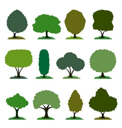 tree set vector image