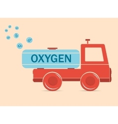 Truck erythrocyte carries oxygen vector image