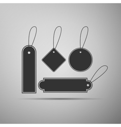 Price tag flat icon on grey background vector