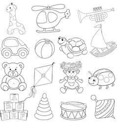 Babys toys set vector image