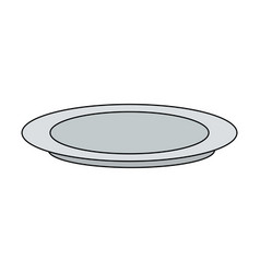 Plate dishware icon image vector