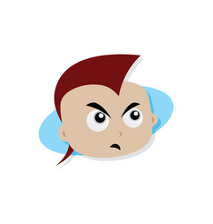 adorable and amazing cartoon superhero head in vector image