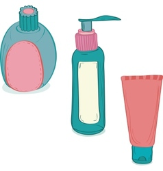Cosmetic bottles vector