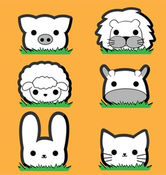 Cute little animal set vector