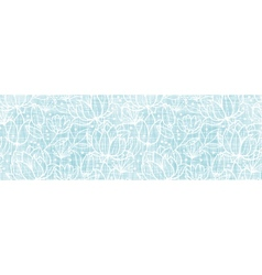 Blue lace flowers textile horizontal border vector