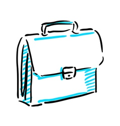 Office bag sketch vector