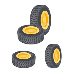 Wheel Set vector image