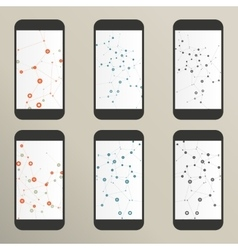 Set of abstract molecule compounds for screens vector