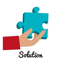 Business solutions and teamwork vector