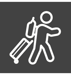 Carrying luggage vector