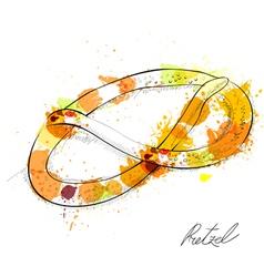 pretzel vector image