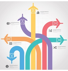 Business journey with global airline infographic vector