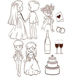 A wedding vector image