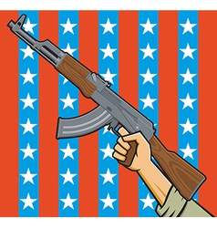 american assault rifle vector image
