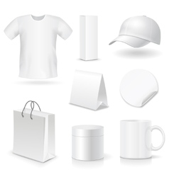 Blank business corporate identity templates gifts vector