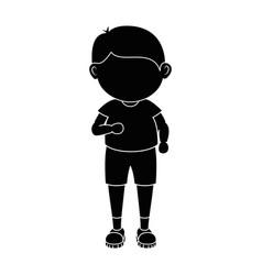 boy running cartoon vector image vector image