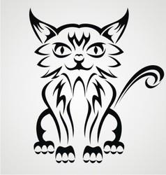 Cat Tattoo Design vector image