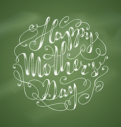 Chalk happy mothers day background vector