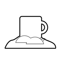Coffee cup with sugar vector