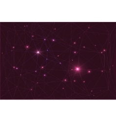 Cosmic constellation with stars vector image