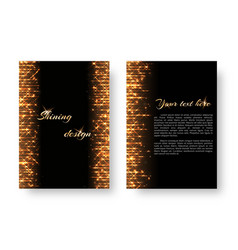 Cover with golden light effect vector