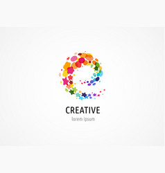 Creative digital colorful logo collection vector