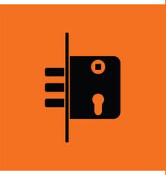 Door lock icon vector image vector image