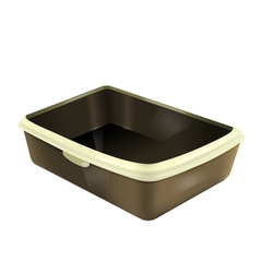 Empty cat litter box vector
