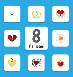 Flat icon passion set of scrambled save love vector