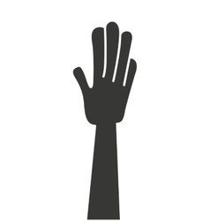 hand human silhouette isolated icon vector image