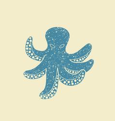 icon of octopus vector image vector image