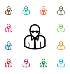 Isolated bodyguard icon professional vector