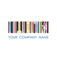 Logo for stationery shop or company vector