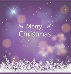 merry christmas purple background christmas vector image vector image