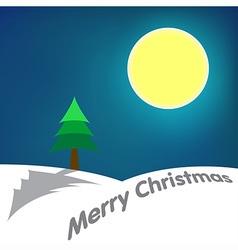 Moon Merry Christmas vector image