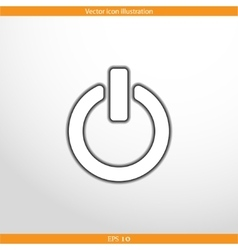 on off switch web flat icon vector image vector image